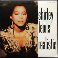 Shirley Lewis - Realistic 1989 disc vinil Maxi Single Pop/funk - Muzica R&B