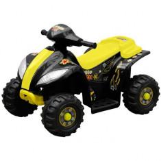 ATV electric copii galben și negru - Masinuta electrica copii