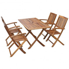 Set mobilier de exterior din lemn de acacia, cinci piese - accesoriu mobila