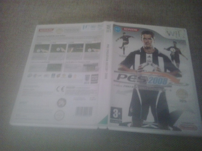 Pro Evolution Soccer PES 2008 - Nintendo Wii foto mare