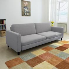 Canapea cu 3 locuri, gri deschis - Cuvertura pat