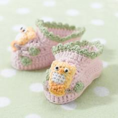 Luni roz Owl papuceii 0-6 - Suzeta