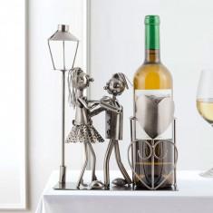 Suport de Sticle Metalic Îndrăgostiți - Suport sticla vin