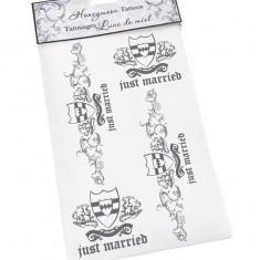 Mire Just Married Tattoo - Costum mire