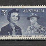 Australia. 1960 50 ani de Cercetasie KY.37 - Timbre straine, Nestampilat