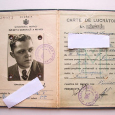 Carte de Munca veche: Carnet de Lucrator, Timisoara 1945 - Pasaport/Document, Romania 1900 - 1950