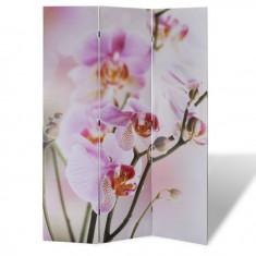 Paravan despărțitor cu imprimeu floral, 120 x 180
