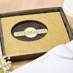 Aur eleganță colecție de carte de oaspeti de la solefavors - Set bijuterii placate cu aur