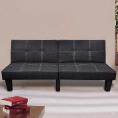 Canapea Pat reglabilă Negru - Husa pat