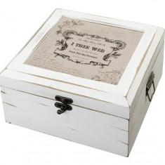 Antic Card de alb Box-True Love