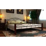 Cadru pat metalic cu picioare din lemn 180 x 200 cm - Pat supraetajat pentru copii