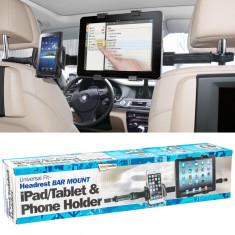 Suport dublu pentru telefon si tableta Ipad cu fixare la tetiere - Suport auto GPS