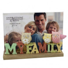 Juliana Resin Inscripția Photo Frame 'My Family