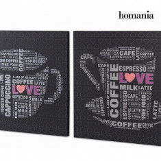 Set. 2 tablouri cu Ștras by Homania - Reproducere