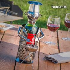 Suport Metalic de Sticle Chef pentru Grătar Homania - Suport sticla vin