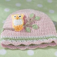 Luni roz Owl Cap 0-6 - Suzeta
