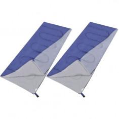 Set de 2 saci de dormit dreptunghiulari și ușori - Benzi magnetice