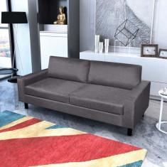 Canapea 3 locuri, gri închis - Cuvertura pat