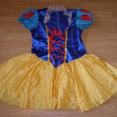 Costum carnaval serbare alba ca zapada pentru adulti marime XL, Marime: Masura unica, Culoare: Din imagine
