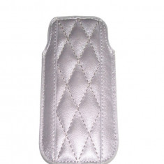 Husa TelOne Piko gri argintie pentru telefon Nokia E51, Nokia E52, Nokia C5, Samsung S7230 Wave - Husa Telefon