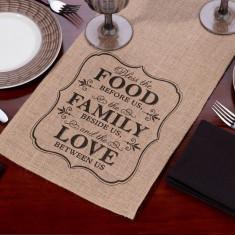 Tabelul Runner Burlap - Food & Familie - Masa biliard