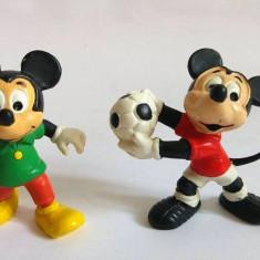 Lot 2 figurine Disney Mickey Mouse, cauciuc, cca 6cm, Bully, Germany, calitate - Figurina Desene animate