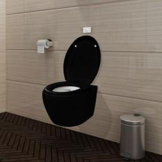 Vas WC suspendat oval, Negru