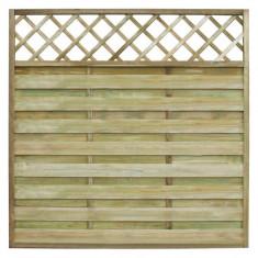 Panou pătrat de gard din lemn pentru grădină cu zăbrele 180 x 180 cm - Cabinet metalic