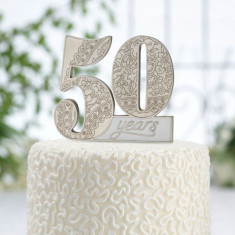 A 50-a aniversare tort pick - Decoratie