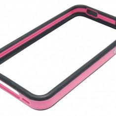Husa bumper negru cu roz pentru telefon Apple iPhone 4/4S - Husa Telefon