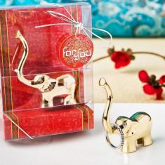 Aur bun Inel noroc elefant și deținător de bijuterii
