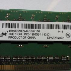 Memorie server ECC HP 2GB DDR3 1600 Mhz 1RX8 PC3-12800E-11 - Memorie RAM