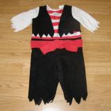 Costum carnaval serbare pirat pentru copii de 1-2 ani - Costum Halloween, Marime: Masura unica, Culoare: Din imagine