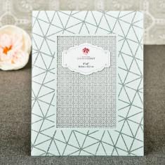Alb cadru geometric de sticlă 4 x 6 de la cadouri de Solefavors - Invitatii nunta