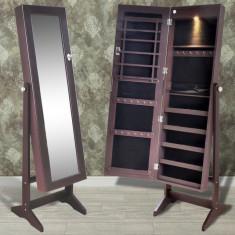 Cabinet maro pentru bijuterii cu suport, oglindă și lampă LED - Echipament cabinet stomatologic