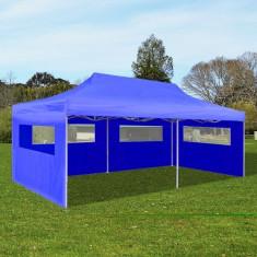 Cort petrecere pliabil 3 x 6 m Albastru - Mobila terasa gradina