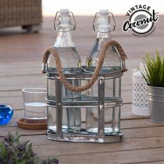 Sticle de Sticlă cu Suport Vintage Coconut
