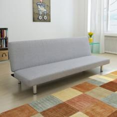 Canapea extensibilă, gri deschis