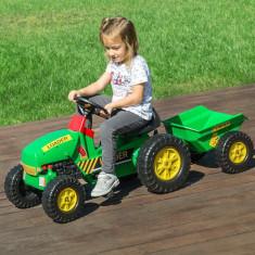Tractor de Jucărie cu Remorcă și Pedale