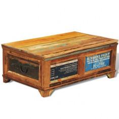 Masă de cafea cu sertare din lemn reciclat în stil vintage - Masa living