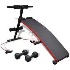 Aparat fitness multifuncțional cu gantere 3 kg - Aparat de vaslit
