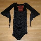Costum carnaval serbare vrajitoare vampirita contesa pentru copii de 7-8 ani - Costum Halloween, Marime: Masura unica, Culoare: Din imagine