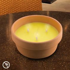 Lumânare Citronella 15 cm în Castron de Teracotă - Lumanare parfumata