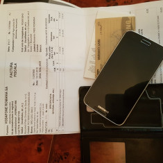 Samsung Galaxy S5, negru, liber de retea, husa activa, folie, factura - Telefon mobil Samsung Galaxy S5, 16GB, Neblocat, Single SIM