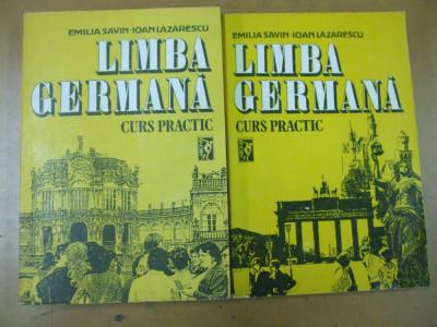 Limba germana curs practic 2 volume E. Savin I. Lazarescu Bucuresti 1992 foto