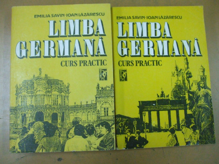 Limba germana curs practic 2 volume E. Savin I. Lazarescu Bucuresti 1992 foto mare