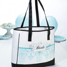Bride Tote - Aqua - Patch Panel