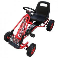 Kart copii cu pedale și scaun reglabil Roșu - Masinuta electrica copii
