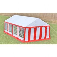 Cort pentru petrecere cu panele laterale 8 x 4 Roșu și Alb - Mobila terasa gradina
