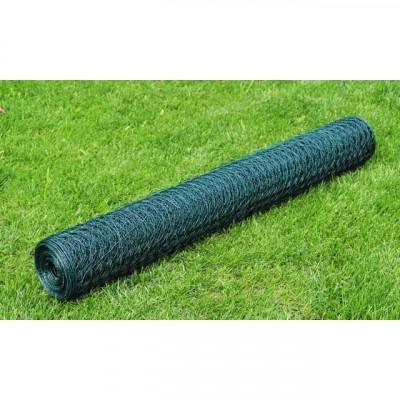 Plasă gard cu izolație PVC 50 cm x 25 m, grosime 1,1 mm foto
